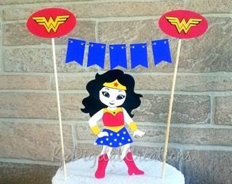 Wonder woman cake topper, justice league cake, Superhero cake topper, wonder woman birthday, Justice league birthday, wonder woman baby