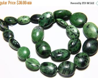"""65% OFF SALE 7"""" Full Strand Natural Ziosite Beads Smooth Oval Shape 13x19mm to 20x26mm Ziosite Drilled Gemstone Beads Stone Bead"""