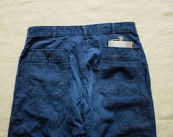 1950's USN Work Deck Jeans indigo Trousers Pants Raw Selvedge WW2 RRL Mister Freedom lvc levis Nigel Cabourn Sugar cane 1947 buzz rickson