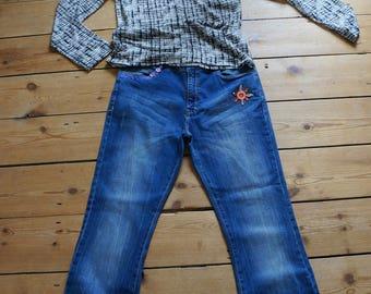 Women's customised denim jeans