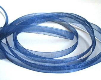 5 m organza Ribbon Royal Blue 6mm