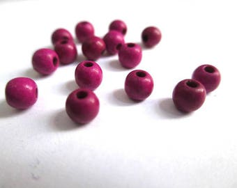 20 beads fuchsia 4mm synthetic turquoise