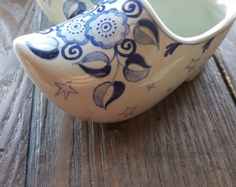 Delft Hand-Painted Clogs