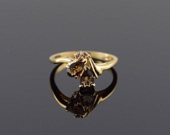 14k 0.75 CTW Smoky Topaz Ring Gold