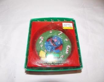Vintage GROVER ornament ceramic sesame street Muppets wreath