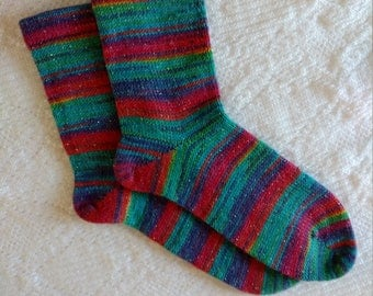 Wool Socks,  Hand Made Wool Socks, Hand Cranked Wool Socks, Women's Wool Socks, Opal Yarn SocksTeen Wool Socks, Boy's Wool Socks,Men's Socks