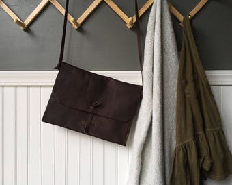 Large Leather Cross-body
