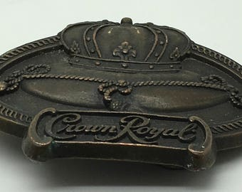 Crown Royal Belt Buckle De Luxe Canadian Whiskey Gift For Him Hipster Biker Frat Boy College  Gift Breweriana
