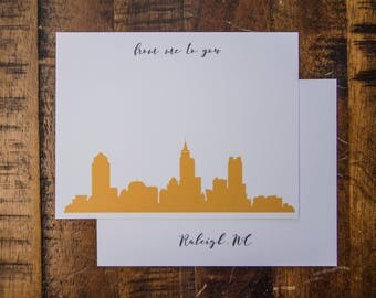 Raleigh NC Flat Note Card Set