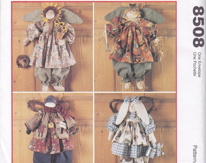 Free Us Ship Sewing Pattern McCall's 8508 Country Primitive  Faye Wine Seasonal Angles Sun Flower Spring Fall Thanksgiving Christmas Snowman