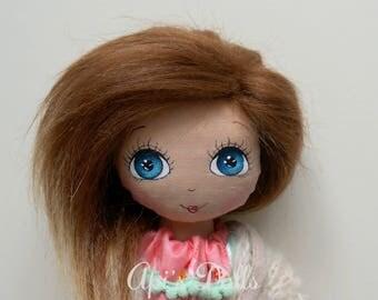 Api's Dolls, OOAK doll, 50 cm doll, Tall doll, Dark skin doll,  Handmade doll, Cloth doll, Art doll, Baby doll