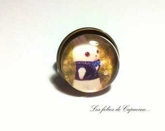 cabochon glass • horloge•