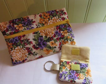 clutch bag, wallet, cell phone, Keychain, Pocket token Caddy