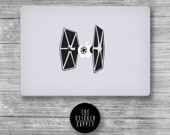 Spaceship Spacecraft Tie Fighter Star Wars - Macbook Vinyl Sticker Decal