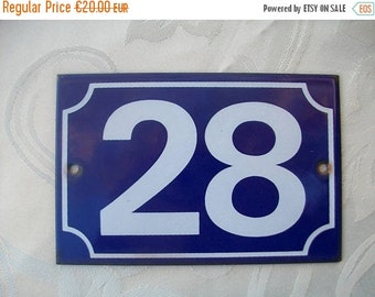 ON SALE House Numbers, Street Numbers, Address Numbers, Enamel House Numbers, House Number 28, Number 28, No 28, 28, Address Sign