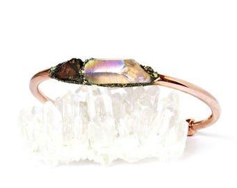January Garnet Birthstone Jewelry, Garnet Bracelet Jewelry, Garnet Jewelry for January, Bangle Bracelet for Her, Birthstone Crystal Jewelry