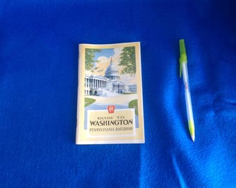 Vintage Pennsylvania Railroad Guide to Washington