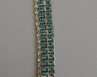Blue metal with hazelnut bookmark