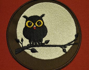 colorful Owl 2 embroidered patch