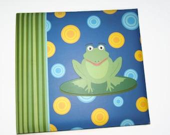 Frog Scrapbook Album - Boy Scrapbook Album - Boy Photo Scrapbook - Frog Photo Scrapbook Album - Boy Scrapbook - Frog Photo Album