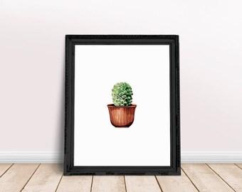 Succulent Print | Terrarium Wall Art, Terrarium Print, Air Plant Terrarium, Desert Plant Print, Plant Painting Print, Plant Paint Print