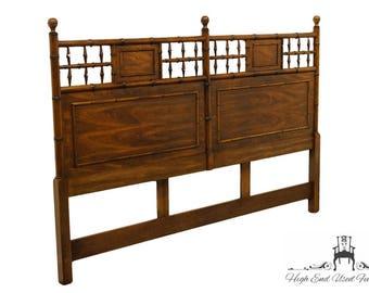 DREXEL HERITAGE Walnut Faux Bamboo King Size Headboard 471-136