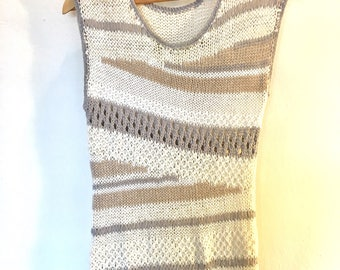 Neutral Knit Sleeveless Top