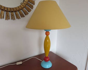 very large ceramic lamp in vintage ceramic lamp Sottsass style 1980 80s MEMPHIS movement