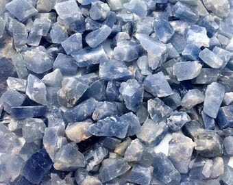 Blue Calcite Raw Chips