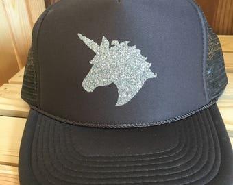 Unicorn Trucker hat/LuLaRoe inspired  unicorn silhouette