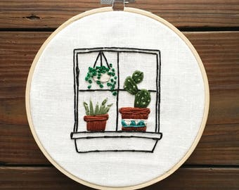 Succulent Window Sill Hoop