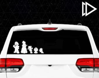 Super Mario Stick Figure Family Car Window Vinyl Decals