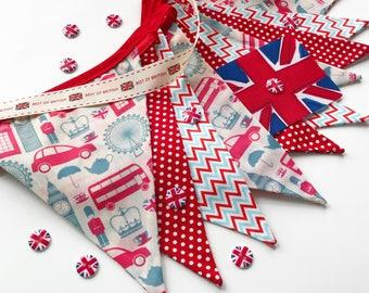 UK Home Decor, London Home Decor, London Nursery Decor, British Bunting, British Party Decor, Love England, London Kids, Nessa Foye