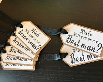 Will You Be My Groomsman tags // Groomsman tags // Best Man Tags // Customized Tags // Wedding Tags // Bachelor Party Favors