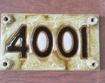 Handmade Stoneware Address Plaque 4001