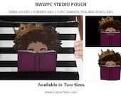 BWWPC STUDIO POUCH | Planner Bag | Pencil Case | Make-Up Bag | Toiletry Bag | Travel Bag | Cute Bag | Clutch | Unique Bag | Black Girl Magic