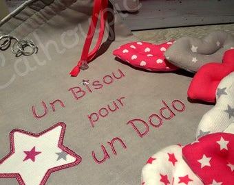 """Sac à Bisous """"Camille"""" et ses 7 bisous, kiss bag"""