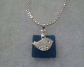 Deep Blue Sea Bird Pendant