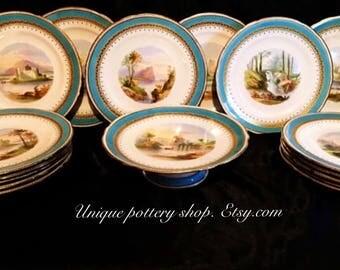 The ultimate 18th century, Josiah Spode, first period, porcelain,  dessert plate set