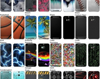 Choose Any 2 Designs - Vinyl Skins / Decals / Stickers for HTC One M8 Android Smartphone