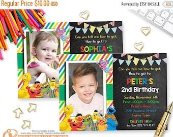 OFF SALE Sesame Street Invitation. Sesame Street Birthday Invitation. Sesame Street Photo Invitation. Sesame Street Party, Printable Invitat