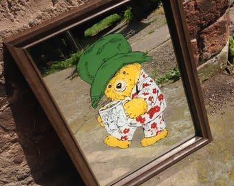 1980s, Paddington Bear, Picture, Mirror