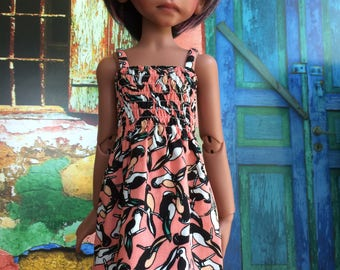 Summer dress with shirred bodice for Kaye Wiggs MSD