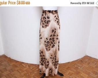 25% OFF VTG 80s-90s Cheetah Print Maxi Hippie Boho Skirt XS/S