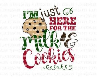 christmas shirt svg, christmas svg file, kids christmas svg, christmas kids svg, christmas girl svg, boy christmas svg, milk and cookies svg