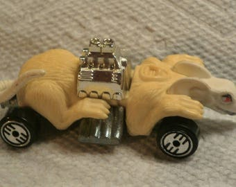 hotwheels white ratmobile 164th scale die cast metal toy made in malaysia that