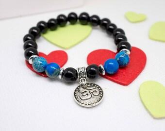 Fancy bracelet man glass beads, bead reality, ohm charm