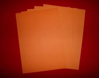 set of 5 papers orange 29.5 x 21 cm