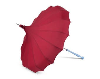 Red Bella Umbrella Pagoda Waterproof Parasol
