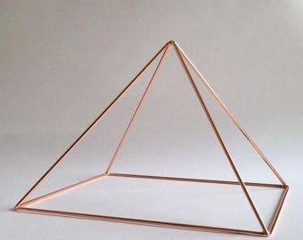 Copper  Pyramid - 9'' Meditation Pyramid - Emf Protection - Relieve stress